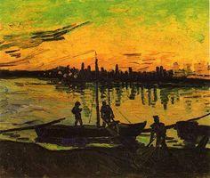 Vincent van Gogh - Coal Barges, 1888