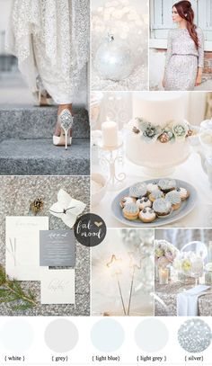 Silver and White Winter wedding for a glamours winter wedding | fabmood.com