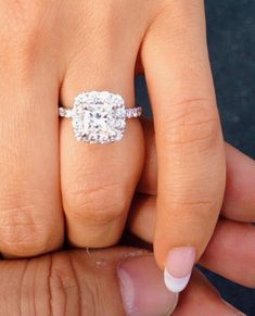 Best Diamond Engagement Rings : Princess cut diamond with halo engagement ring ~ Massive CLEARANCE SALE exclusiv. - Buy Me Diamond Princess Cut Rings, Princess Cut Engagement Rings, Princess Cut Diamonds, Diamond Engagement Rings, Wedding Engagement, Princess Cut With Halo, Morganite Engagement, Engagement Jewellery, Engagement Sets