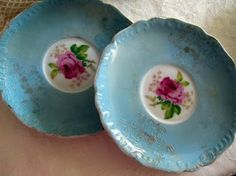 ❥ blue vintage china