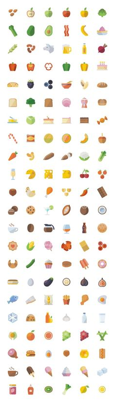 This set contains all the icons which allude to food elements related to fruits and vegetables, spices, dairy products, meats, baked goods, beverages, drinks and prepared foods. This set includes approximately 6725 unique icon shapes ( without counting sizes ), and all sizes: 24, 32, 48, 64, 72, 128, 256 and 512 pixels, vector files [...]: