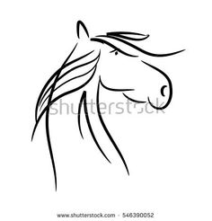 simple sketched horse - to use for logo or background