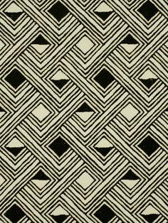 motif géométrique : Robert Allen, Taj Ganges, losanges, noir et blanc Geometric Patterns, Ethnic Patterns, Textile Patterns, Geometric Shapes, Pretty Patterns, Color Patterns, Surface Pattern Design, Pattern Art, African Textiles