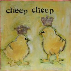 Cheep Cheep by ipaintpictures on Etsy, $25.00
