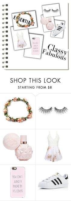 """Date Night"" by lilyismyname-13 ❤ liked on Polyvore featuring Koo, MAKE UP FOR EVER, WithChic, Casetify and adidas"