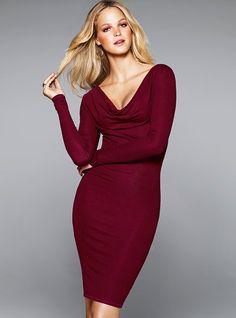 Ribbed Cowlneck Dress - Victoria's Secret