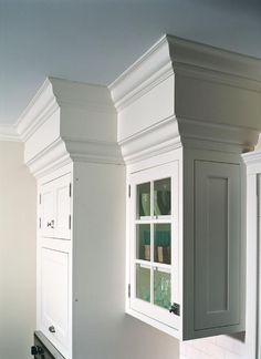add crown moulding to top of cabinets hide kitchen soffit with molding and crown molding    kitchen      rh   pinterest com