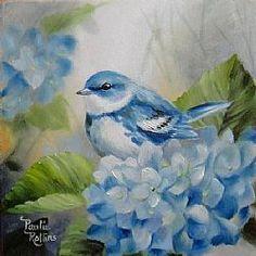 Art: Warble in Blues by Artist Paulie Rollins