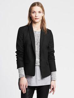 Black One-Button Blazer