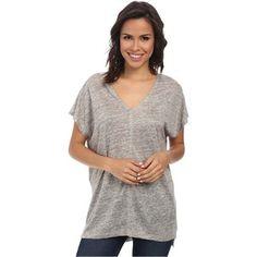Splendid Melange Linen Jersey Shirt (Heather Grey)