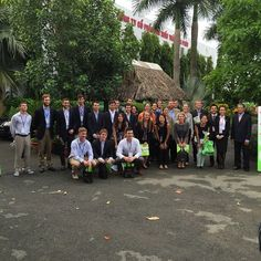 Students on a first-year global experience trip to Vietnam visited the Hung Phat tea office and factory to learn more about business in Vietnam. #fgxvietnam #culeeds #boulder #vietnam