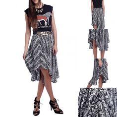 Nueva falda con bajo asimétrico,Ideal❤️❤️❤️http://primoronline.pswebshop.com/es/