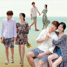 [Gmarket] Couple-Look/Honeymoon Matching Clothes/Couple/Matching Beach Wear Matching Clothes, Matching Couples, Matching Outfits, Couple Shirts, Beachwear, How To Wear, Shopping, Beach Outfits, Beach Attire