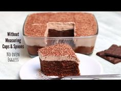 Chocolate Mousse Cake Recipe Easy | NO SPECIAL MEASURING CUPS or SPOONS | Chocolate Cake - YouTube Easy Chocolate Mousse, How To Make Chocolate, Chocolate Cake, Party Desserts, Dessert Party, Easy Cake Recipes, Party Recipes, Cake Youtube, Measuring Cups