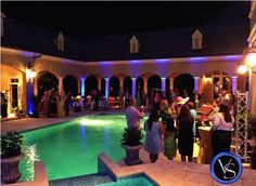 Private Party with Specialty Uplighting, Salisbury, NC