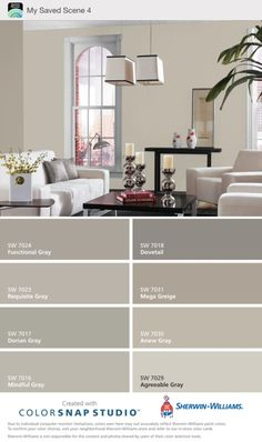 Mega Greige & Anew Gray - Sherwin Williams. ( warm grays ). My choice for gray color scheme. by francine