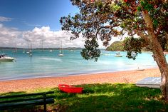 Russell, Bay of Islands, NZ. we sat on that bench and watched the sunset, Christmas Eve 1996.
