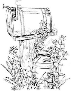 I love countryrustic looking designs! Northwoods Rubber Stamps – Rural Mailbox Source by lokeetah Wood Burning Patterns, Wood Burning Art, Digi Stamps, Coloring Book Pages, Painting Patterns, Free Coloring, Pyrography, Colorful Pictures, Painting & Drawing
