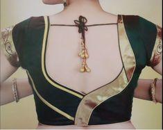 Latest Blouse Back Neck Pattern For 2019 - Kurti Blouse Blouse Back Neck Designs, Fancy Blouse Designs, Saree Blouse Designs, Sari Blouse, Saree Dress, Dress Designs, Blouse Styles, Dress Skirt, Latest Blouse Patterns