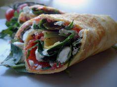 LCHF-bloggen: Omelettwrap med røkt ørret