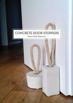 DIY concrete door stoppers by deann