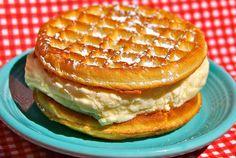 Waffle Ice Cream Sandwich.