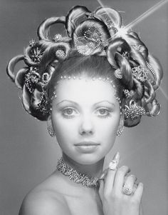 In 1970, Laurence Graff OBE created the original 'Hair and Jewel' image, which showcased half-a-million dollars of jewellery in and around the model's hair.