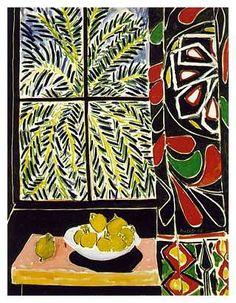 'La Cortina Egipcia', 1948 por Henry Matisse. Época fauvista.
