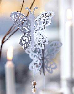 Pretty lacy paper butterflies - directions aren't English, but there's a template & very a good picture a tutorial. looks like the site has much to offer