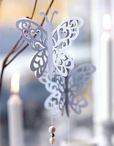 Sommerfuglen er et dejligt klassisk motiv, som egner sig perfekt til smukke luftige filigranophæng.