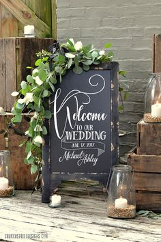 wedding chalkboard with message double sided chalkboard chalkboard easel sandwich chalkboard welcome to our wedding Wedding Chalkboard Wedding Ideas - CowlesNCP ~ Make your Wedding Ideas Wedding Entrance, Wedding Ceremony Ideas, Wedding Signage, Diy Wedding, Rustic Wedding, Wedding Flowers, Wedding Venues, Cottage Wedding, Wedding Rings