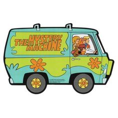 Scooby-Doo Mystery Machine Fridge Magnet via Polyvore featuring home, home decor, office accessories, magnets refrigerator and magnets fridge