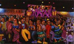 Nuit Chaud à la cité -  Moké Louis Vuitton Fondation, Afro, Wrestling, 2013, Collection, Artist, Contemporary, Image, Africa