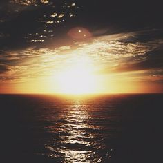 Sunset somewhere on the Pacific Ocean ||