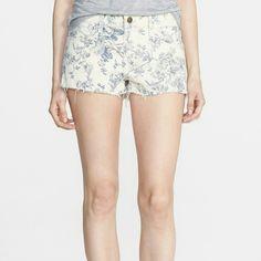 """Wildfox Floral Cut Off Shorts Wildfox lara cut off shorts. 2"""" inseam. I have one size 27 and one size 28 available. New with a tag. Wildfox Shorts Jean Shorts"""