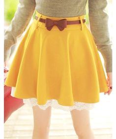 Bow Lace High Waisted Skirt.