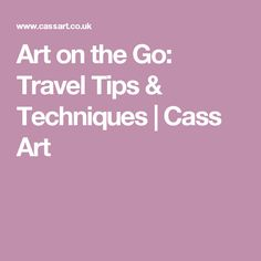 Art on the Go: Trave