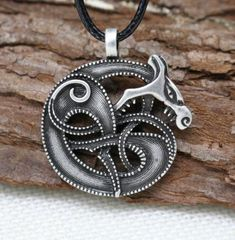 """Midgard Serpent"" Jormungand Necklace"
