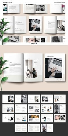 SIMPLE FORM // is a minimalistic inspired InDesign template. With a focus on clean lines, neutral colour palette and a strong grid. This template features 36 Indesign Templates, Brochure Template, Graphic Design Layouts, Layout Design, Template Portfolio, Neutral Colour Palette, Clean Design, Email Marketing, Editorial