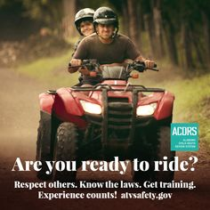Is it okay for more than one person to ride a single-rider What gear should you put on before going for a ride? See our tips at go. Go Usa, Respect Others, Is It Okay, Hunting Season, Injury Prevention, Safety Tips, Public Health, Alabama, Usa Gov