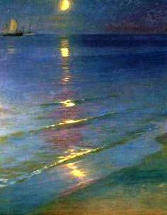 Peder Severin Kroyer - Summer Evening on the Beach at Skagen