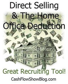 Anyone who owns a business has a legal income tax reduction package to utilize to their advantage.    This is an AWESOME #DirectSales recruiting incentive!! http://www.createacashflowshow.com/building-show-business/direct-selling-and-tax-deductions.htm