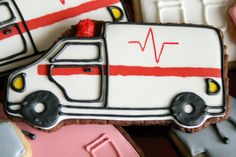 Ambulance cookie., via Flickr.