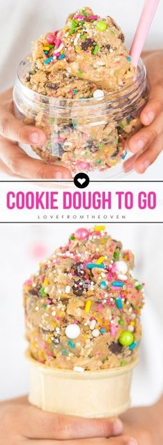 Edible Cookie Dough Cones And Cookie Dough Recipes.