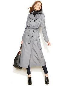 Audrey Classic Double-Breasted Trench Coat - Plus Size 3x ...