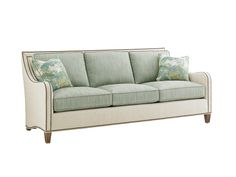 Koko Sofa by Tommy Bahama, with different color seat cushions