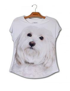 Camiseta Premium Evasê Maltês www.usenatureza.com #UseNatureza #JeffersonKulig