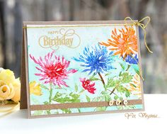 """Yes, Virginia blog.  Card using Penny Black """"Bejeweled"""" stamp and misti stamp positioner."""