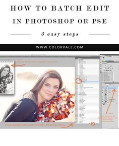 How To Batch Edit in Photoshop or Elements - Want to apply the same look to multiple images but don't want to do the work over and over again?  Don't watch this step-by-step tutorial on how to quickly edit images applying the same look over and over. http