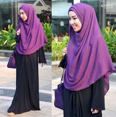 Hijab #kivitz #syar'i but not with that rolled hair..
